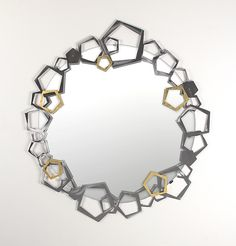 Penta Mirror by Ken Girardini and Julie Girardini: Metal Mirror available at www.artfulhome.com