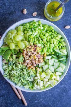The Greenest Chopped Salad - She Likes Food