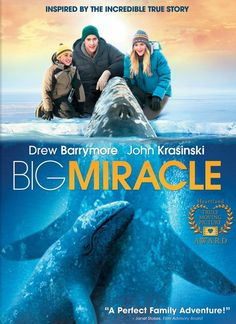 Based on true events Big Miracle is the story of a reporter, an animal loving volunteer (Drew Barrymore) and the multi-national events that saved a stranded group of Gray whales from Arctic ice.  See more new movies at http://www.carmel.lib.in.us/av/newmovies.cfm