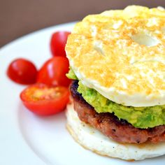 "Paleo Sausage Egg ""McMuffin"" #lowcarb"