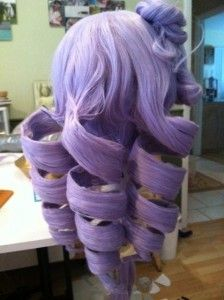 How to make drill curls! This will save me when I make my Kasane Teto wig! <3