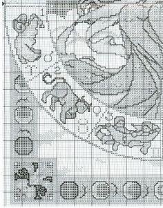 Borduurpatroon Sterrenbeeld Kruissteek *X-Stitch Pattern Zodiac ~The Astrologer 6/7~