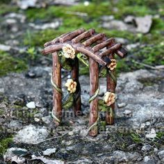 Fairy House: How to Make Amazing Fairy Furniture Fairy Tree Houses, Fairy Garden Houses, Fairy Crafts, Garden Crafts, Fairy Garden Furniture, Mini Fairy Garden, Fairy Garden Accessories, Fairy Doors, Miniature Fairy Gardens