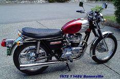 A 750 Bonneville..my first cool bike.