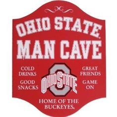 Amazon.com: Handcrafted Wooden Ohio State Buckeyes Man Cave Sign: Everything Else