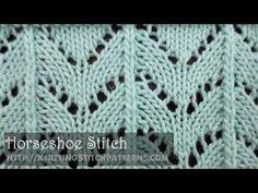 Horseshoe Stitch - YouTube