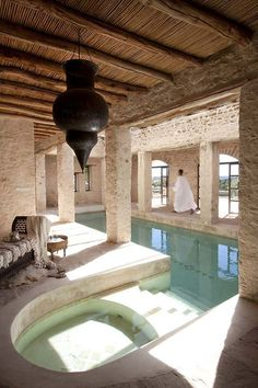 boutique hotel Stylish boutique hotel on the outskirts of Essaouira with indoor swimming pool Luxury Swimming Pools, Indoor Swimming Pools, Swimming Pool Designs, Lap Swimming, Indoor Pools In Houses, Pools Inground, Interior Architecture, Interior Design, Beautiful Pools