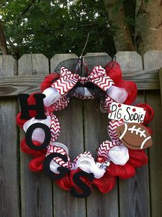 Arkansas Razorbacks Chevron Mesh Wreath by jeremiahdesigns on Etsy, $45.00