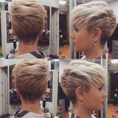 Cool and Stylish Pixie Haircut Ideas for a Bold Statement - hair styles for short hair Sassy Haircuts, Haircuts For Fine Hair, Pixie Hairstyles, Cool Hairstyles, Pixie Haircuts, Bob Hairstyle, Style Hairstyle, Layer Haircuts, Textured Hairstyles