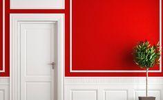 Relevo aplicado pode ser da mesma cor da parede ou brincar com o constraste