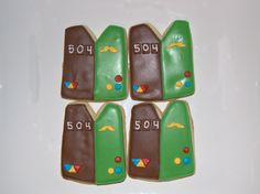 Girl Scout Bridge Ceremony Cookies  Brownie to Junior Bridge Ceremony