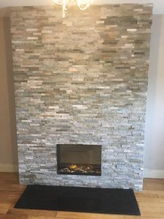 Living Room Ideas Uk, Chimney Breast, Electric Fires, Stone Cladding, Fireplaces, Family Room, Crafts, House, Home Decor