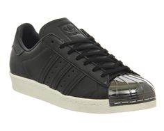 size 40 fde0a d55cf Adidas, Superstar 80s Metal Toe W, Black White Pewter Metal Toe Exclusive Adidas  Superstar