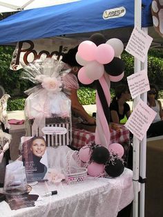 Mary Kay party ideas  www.facebook.com/KathysDaySpa Mary Kay Ash, Beauty Consultant, Independent Consultant, Mary Kay Party, Mary Kay Makeup, Mary Kay Cosmetics, Vendor Booth, Market Table, Balloon Display