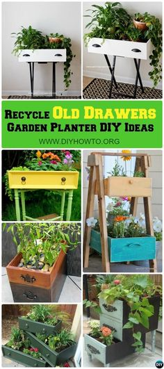 Recycle Old #Drawer #Garden Planter DIY Ideas, best collection with instructions. via @diyhowto