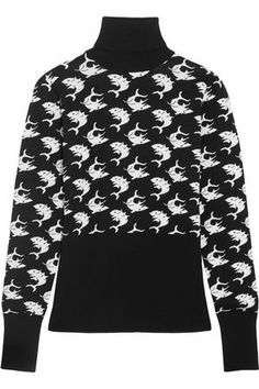 DURO OLOWU WOMAN INTARSIA WOOL SWEATER BLACK.  duroolowu  cloth   6077457e7da