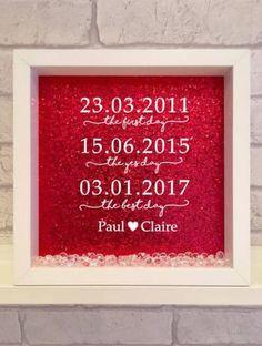the first, the yes, the best day vinyl print frame valentines wedding gift / handmade frame / vinyl print / handmade / wedding by Kayleighskeepsake on Etsy