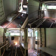 First setup for the mercedes 409 camper