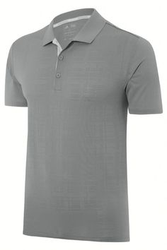 adidas Golf 2015 climacool Grid Texture Men s Golf Polo Shirt - Mid Grey Features All-Over Grid Texture Contrast Colour Under-Placket 3-Button