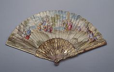 Folding Fan Decorated with Biblical Subjects   Italy. 1730s  Tortoise-shell, parchment and gold; carved and inlayed. L. 26.9 cm   Source of Entry:  Imperial Gallery of Objets of Great Value. Second half of the 19th century