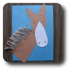 clip clop mr horse -footprint horse craft