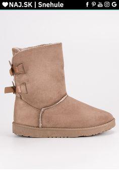 Vysoké béžové snehule L7331KH Snow Boots, Ugg Boots, Bearpaw Boots, Teak, Uggs, Shoes, Fashion, Moda, Snow Boots Outfit