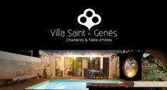 Villa Saint Genès - Création d'une identité visuelle pour ces #Chambres et Tables d'hôtes - #logo Table D Hote, Villa, Saint, Tables, Touch, French, Logo, Corporate Design, Bedrooms