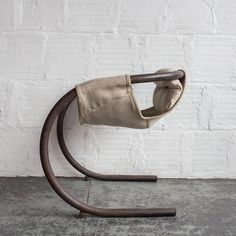 This hammock chair by Byron Botker includes a rocking base and a padded, fabric sling. Industrial Furniture, Cool Furniture, Modern Furniture, Furniture Design, Furniture Dolly, Metal Design, Chair Parts, Deco Originale, Hammock Chair
