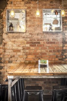 Industrial and rustic - a cafe combination we love (with coffee!) @Karrottopdesign #Melbourne #Cafes