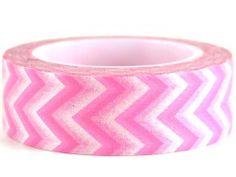 Bubble Gum – GetWashi.com - Pink and white chevron washi tape.  $1.97