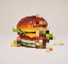 L'artiste Yuni Yoshida pixélise les aliments - Journal du Design