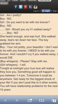 That is so sweet! Only if.