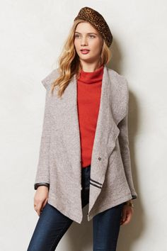 Bordered Boucle Cardigan - anthropologie.com