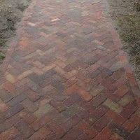 Brick path in progress