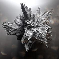 Crystallized Asteroïds on Behance