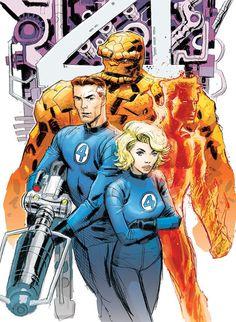 Fantastic Four by Dustin Weaver Marvel Comics Superheroes, Hq Marvel, Marvel Heroes, Captain Marvel, Comic Book Characters, Comic Books Art, Comic Art, Book Art, Fantastic Four Marvel