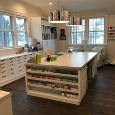 Would you like an organized craft room? I designed my house around my craft room and have some great craft room organization tips and ideas for you. Sewing Room Design, Craft Room Design, Craft Room Decor, Cricut Craft Room, Sewing Rooms, Home Decor, Craft Room Tables, Sewing Spaces, Craft Room Lighting
