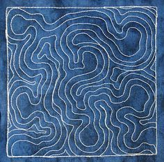 The Free Motion Quilting Project: Day 327 - Topographic Map (beginner)