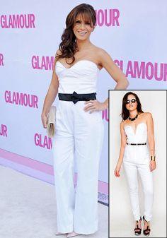 ALESSANDRA ROSALDO  Copia el estilo chic de la esposa de Eugenio Derbez con este jumpsuit blanco de Slimskii, por $39.95.