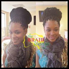 Havana Twist Bun! www.thebraidlounge.com 757.965.4232 Twist Bun, Twist Braids, Havana Twists, Twist Hairstyles, Protective Hairstyles, Protective Styles, About Hair, Braid Styles, Kinky