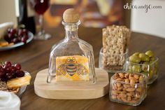Upcycled Patron bottle cheese serving set Caps On Tology Patron Bottle Crafts, Liquor Bottle Crafts, Wine Bottle Corks, Patron Bottles, Bottle Bottle, Tequila Bottles, Bottles And Jars, Empty Liquor Bottles, Bottle Cutter