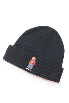 RALPH LAUREN POLO BEAR KNIT CAP