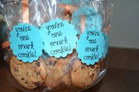 cute idea for encouraging kids before testing