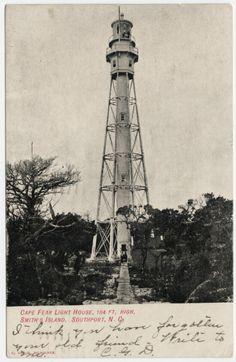 Cape Fear Lighthouse Complexm in Brunswick County, North Carolina.