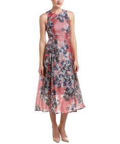 L.K.Bennett Silk-Blend Midi Dress