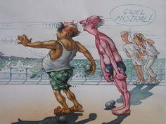 Pétanque Mistral par Claude Serre - Illustration