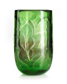 Vicke Lindstrand (Swedish, 1904-1983), Orrefors, Graal Glass Vase. (Enlarge)