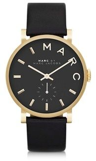 Black Baker 36.5MM Round Women's Watch / Marc by Marc Jacobs (マーク バイ マークジョイコブス) - shopstyle.co.jp