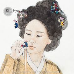 Graffiti, Korean Painting, Korean Art, Sketch Design, Disney Characters, Fictional Characters, Oriental, Sketches, Bows