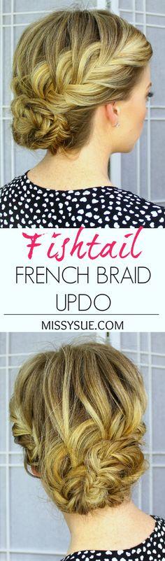 Fishtail French Braid Updo